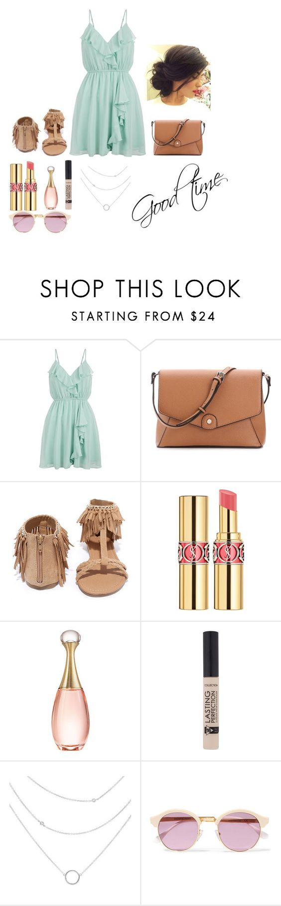 """""""good time"""" by aillwen ❤ liked on Polyvore featuring New Look, Qupid, Yves Saint Laurent, Christian Dior and Sheriff&Cherry"""