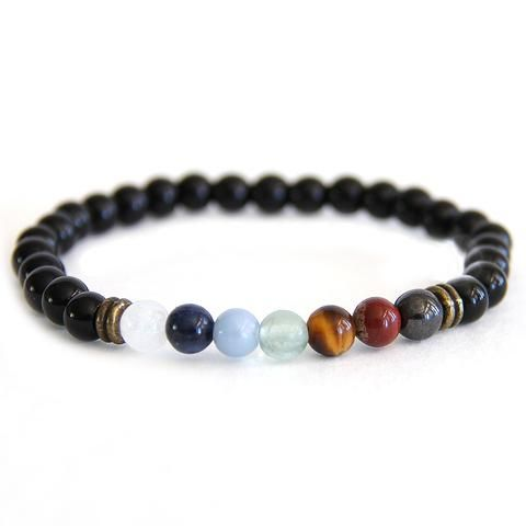Aquarius - Zodiac Seven Chakra Balancing Bracelet - Crystal Rock Emporium