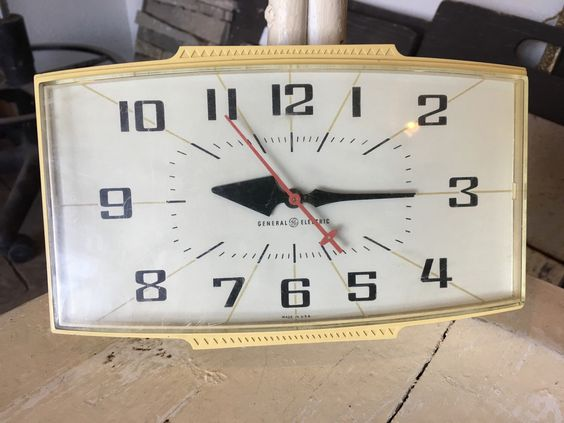 A personal favorite from my Etsy shop https://www.etsy.com/listing/385978256/mid-century-general-electric-wall-clock