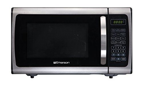 Emerson Radio Emerson Er105005 Single Microwave Oven Stainless Steel Black 0 9 Stainless Steel Oven Kitchen Gadgets Gifts Microwave