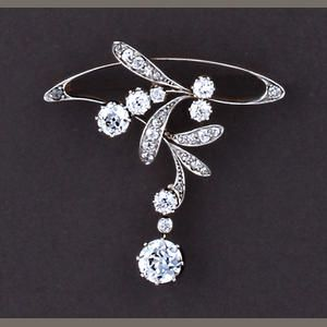 A belle époque diamond brooch, Estimate: US$ 4,000 - 6,000.  BEAU-TI-FUL!!    http://www.bonhams.com/auctions/18259/lot/107/