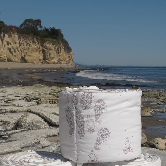 #tlsfpinaway pink yogi baby bedding at point dume, california