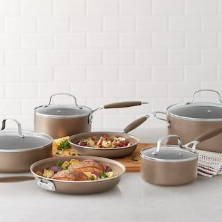 Food Network 10 Pc Nonstick Ceramic Cookware Set Kohls Ceramic Cookware Set Ceramic Cookware Cookware Set