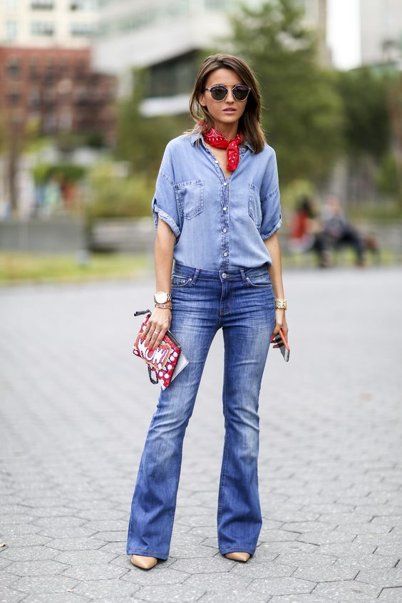 denim en total look
