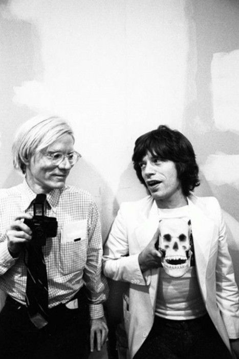 Andy Warhol and Mick Jagger: