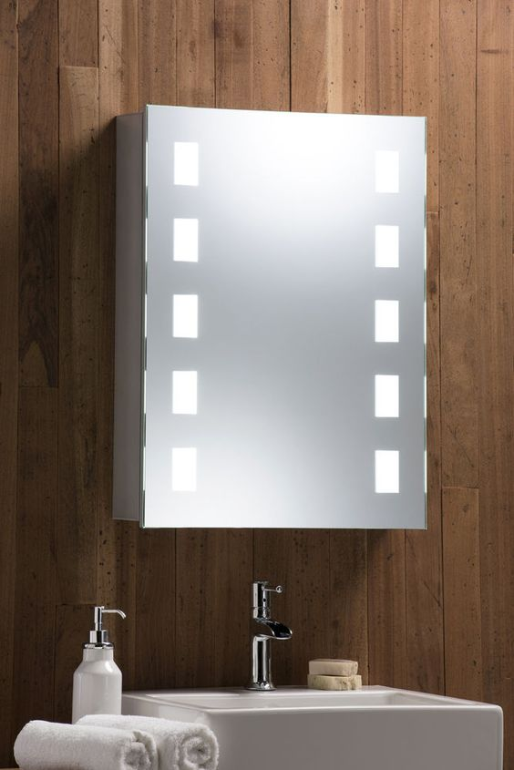 LED Illuminated Bathroom MIRRORED CABINET With Demister Shaver Sensor 70x50 C10. Details about LED Illuminated Bathroom MIRRORED CABINET With