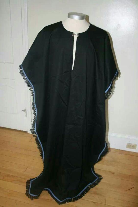 fringes black linen and black on