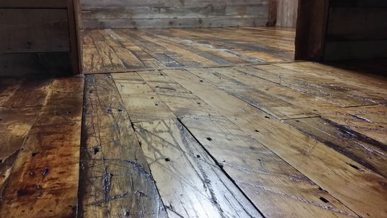 Rustic wood flooring reclaimed wood floors ideal for for Recycled flooring ideas