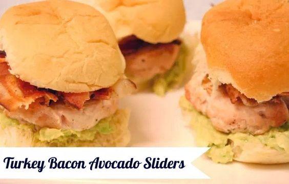Turkey Bacon Avocado Sliders made with Rhodes Warm-n-Serv Rolls ...