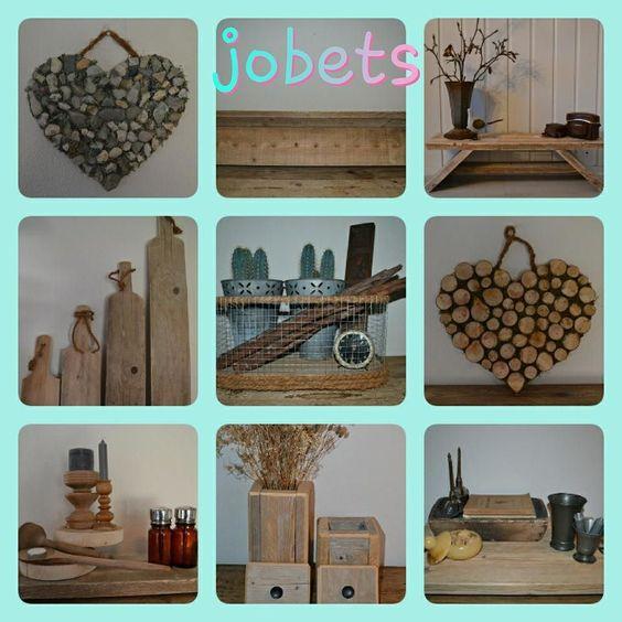 "Collage ""jobets"" Allerlei leuke spulletjes... Jobets#interieur#huis#steigerhout#harten#brocante#serveerplank#manden#broodplanken#wonen#uniek#handmade#accessoires#decoratie#interior#riet#gaas#kippengaas#beer#toiletrolhouder#sierpotten#valentijnLink webshop in biografie  by jobet23"