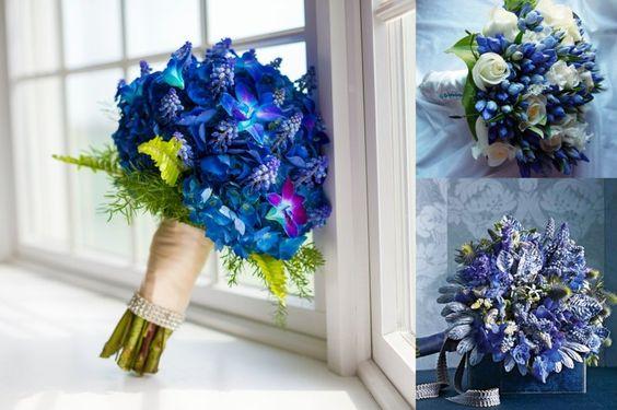Im Trend liegen bei den Hochzeits Blumen auch solche in Blau