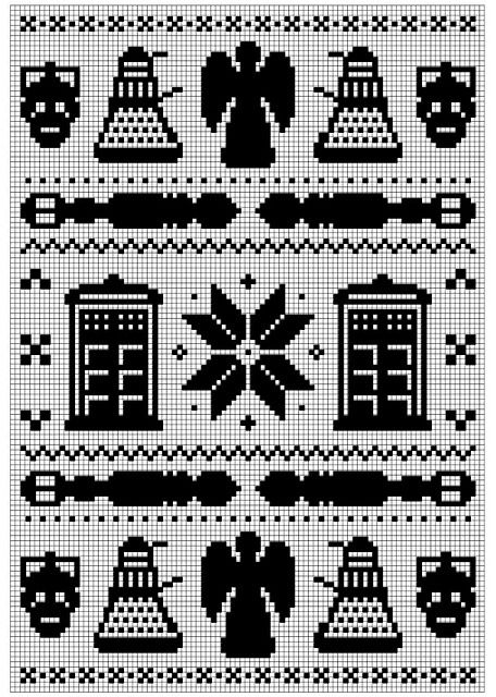 Dr Who Christmas Jumper Knitting Pattern