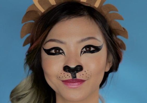 Snapchat Lion Filter Halloween, Cute halloween and Lion - cute makeup ideas for halloween