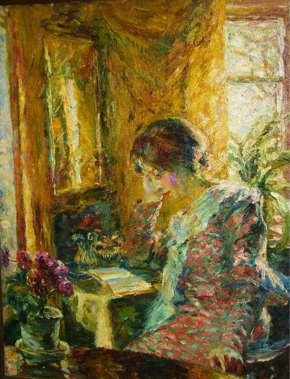 Emil Nolde, Frühling im Zimmer, 1904