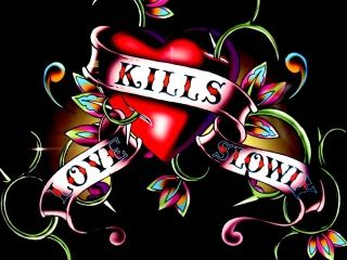 Love Kills Wallpaper : Ed Hardy Love Kills Slowly Wallpaper Love Kills Slowly wallpapers to your cell phone - ed ...