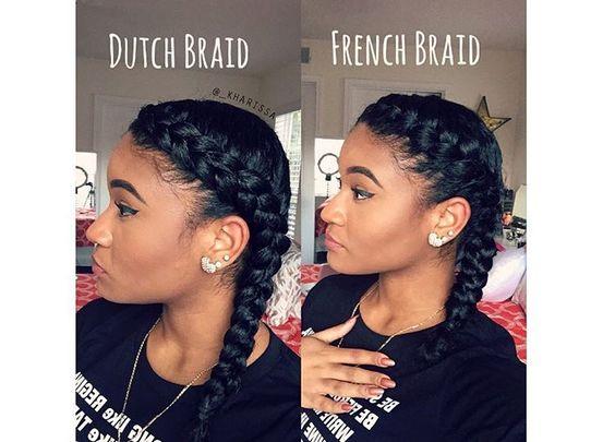 How To Do A French Braid On Black Hair Black Hair Spot