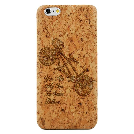 You are my one in Seven Billion- Laser Engraved Wood Phone Case (Maple,Cherry,Black,Cork)