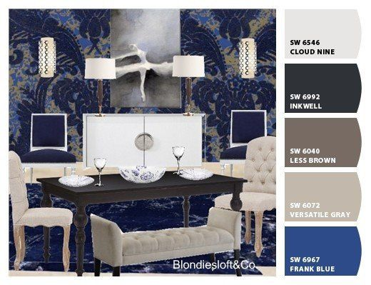 Warm And Cozy Dining Room Moodboard: Interior Design Ideas, Customized, Digital Mood Board
