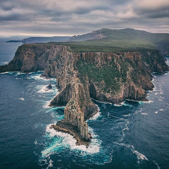 The awe-inspiring sea-cliffs of Cape Raoul on the Tasman Peninsula captured by @mattglastonbury.  Cape Raoul, along with Cape Hauy and Cape Pillar, will together form the Three Capes Track - a multi-day, walking/boating experience.  Three Capes will offer walkers the ultimate tasmanian bushwalking adventure that can be taken independently, or in the future with a guided tour operator. It is scheduled to open to trekkers for the first time in November of this year.  Thanks for tagging…