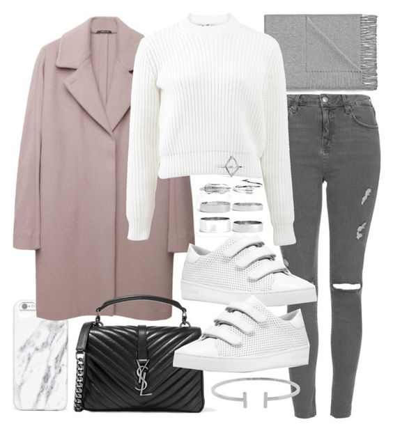 """Untitled #20162"" by florencia95 ❤ liked on Polyvore featuring Topshop, Acne Studios, Maison Margiela, T By Alexander Wang, Yves Saint Laurent, MICHAEL Michael Kors, Boohoo and Humble Chic"