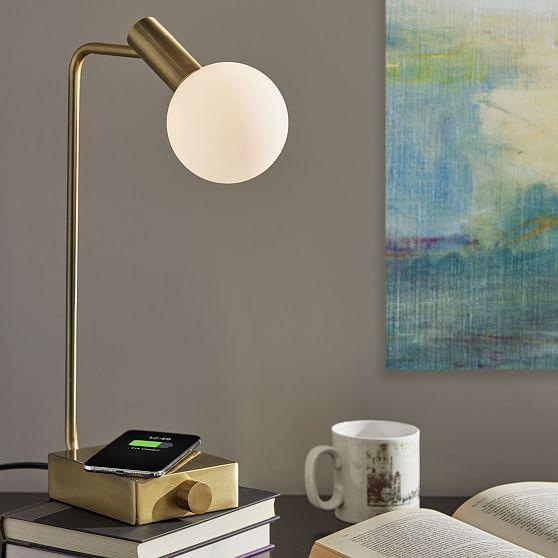 Modern Deco Led Wireless Charging Usb Task Lamp Task Lamps Table Lamp Lamp