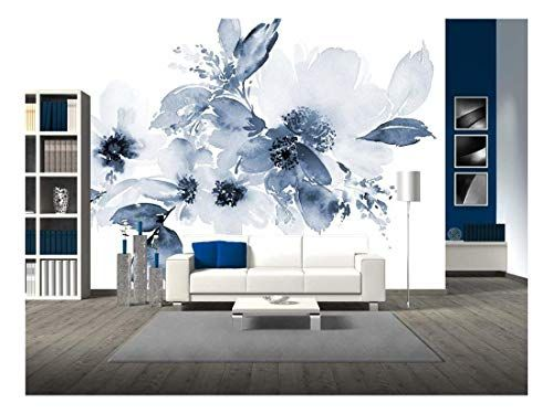 Big Flowers Wallpaper Bedroom Poster White Floral Mural Poster Design Background Wall Abstract Oil Painting
