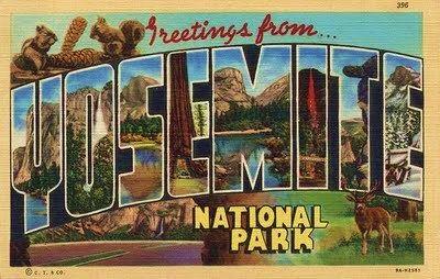 Yosemite - vintage postcard