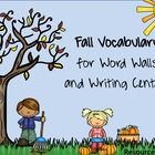 Fall Words Cards Fall Word Wall  Kids often shy away from writing when they don't know how to spell things. Hopefully these cute picture vocabulary...