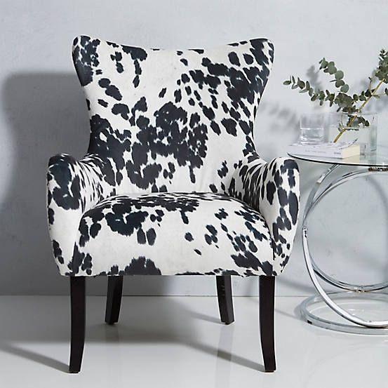 Dallas Black White Cow Hide Look Chair Black White Sofa Cowhide Chair White Cow