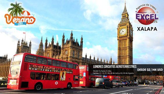 Excel Tours Xalapa te lleva a conocer Londres con estos circuitos aeroterrestres de Verano por Europa. Salidas garantizadas con Aeromexico.