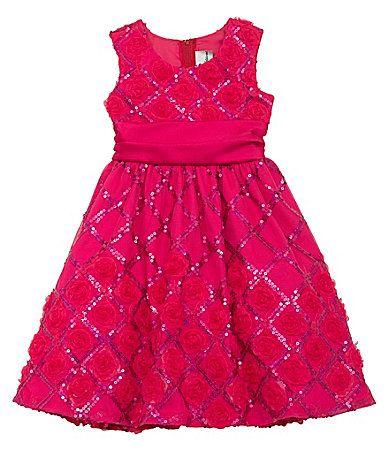 Rare Editions 46X Chevron Soutache Dress #Dillards