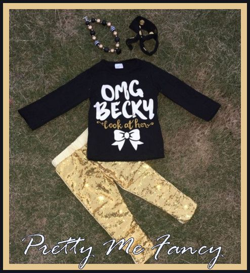 OMG Becky Look at her Outfit Sz. 12 months to 7 8 Yrs - FREE Accessories (24.99 USD) by prettymefancyshop