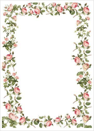 stationary printable preschool paper tags printables printables floral ...