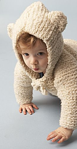 Knitting Pattern For Baby Cardigan With Hood And Ears : Baby Bear Hooded Jacket Pattern (Knit) Yarns, Knitting ...