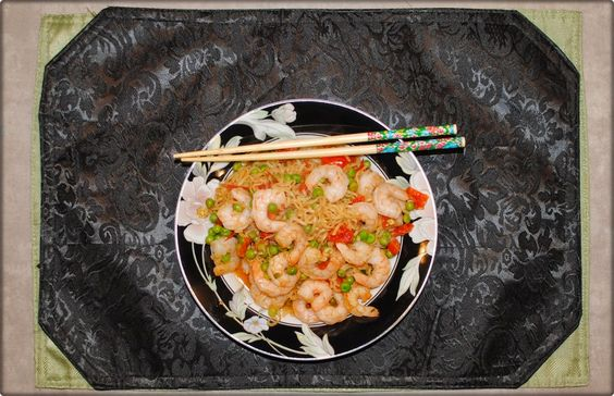 Easy & Spicy Shrimp Oriental Noodles