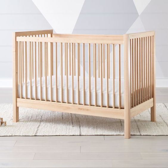 Andersen Ii Maple Crib Reviews Crate And Barrel Wood Crib Cribs Crate And Barrel