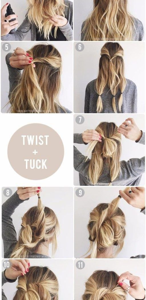 Quick And Easy Updos For Medium Imposing Diy Hair Updo Medium Hair Styles Hair Styles Diy Updo