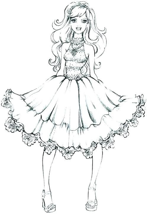 Barbie Ball Gown Coloring Pages Collection