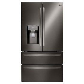 Buy Lg Lmxs28626d 28 Cu Ft Ultra Large Capacity 4 Door French Door Refrigerator Black St French Door Refrigerator French Doors Lg French Door Refrigerator