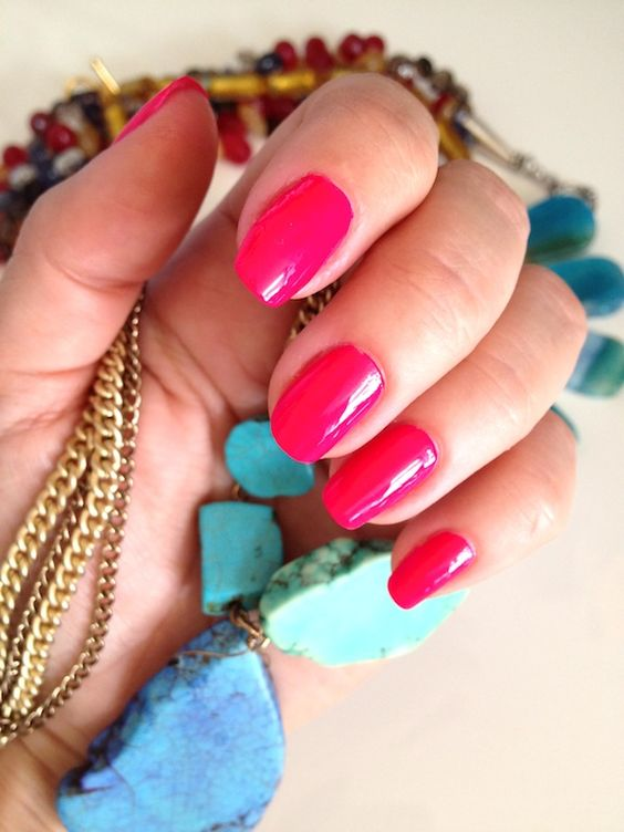 hot pink 'n turquoise