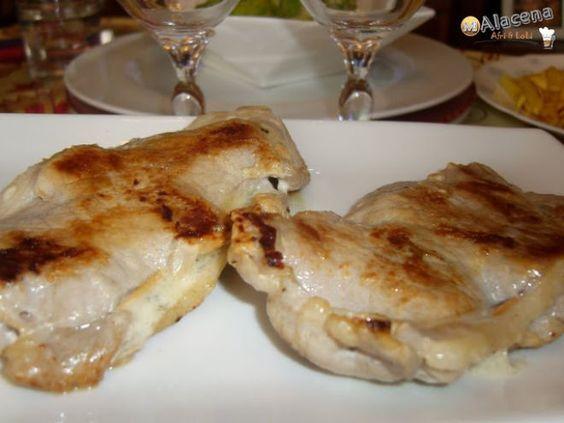Filetes de lomo rellenos de queso azul Castello