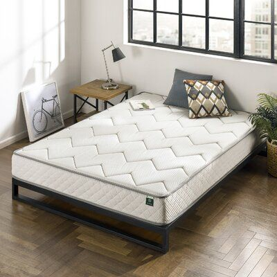 Alwyn Home This spring mattress provides firm comfort and support. Charcoal memory foam with natural, moisture-absorbing charcoal to deliver a refreshing night's sleep. Please open your mattress package within 72 hours of receipt and allow 48 hours for your new mattress to return to its original, plush shape. Mattress Size: Twin