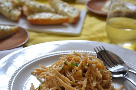 Lemon, Parmesan, & Clam Linguine by sarcasticcooking #Pasta #Lemon #Clam #sarcasticcooking
