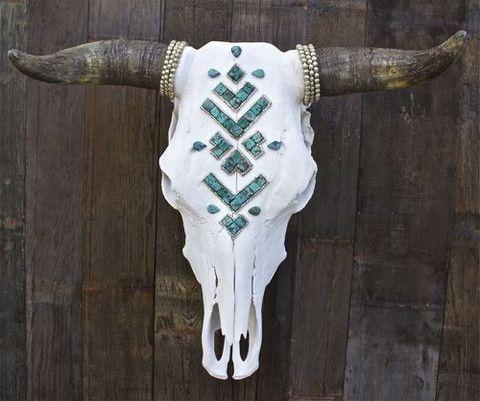 Turquoise Navajo Skull: