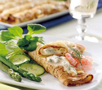 Crêpes mit Spargel und Gorgonzola #Rezept