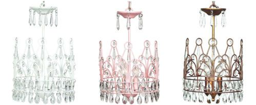 3 Light Crown Chandelier for Girl Child Kid Teen Room Decor Color Choice | eBay