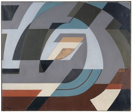 Mauro Reggiani    Composizione, 1953  olio su tela  cm 54x65