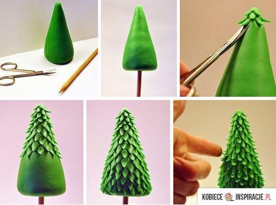 Manualidades navideñas plastilina. Técnica también para fondant.