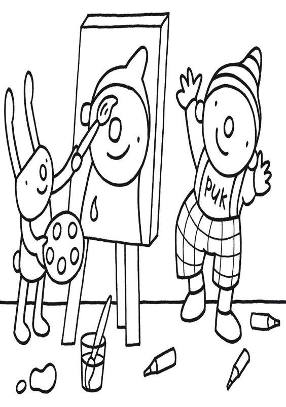 Kleurplaten Uk En Puk.Kleurplaat Ik En Mijn Familie Puk Ausmalbilder Barbapapa Bild Viele