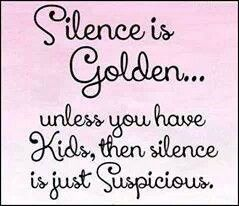 Silence is suspicious
